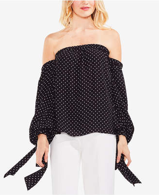 Vince Camuto Off-The-Shoulder Polka-Dot Top