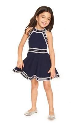 Milly Minis Navy White Dress