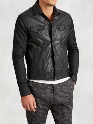 Denim-Style Leather Jacket $598 thestylecure.com
