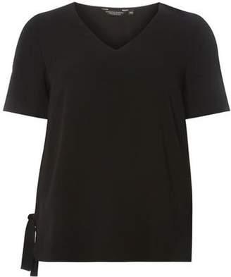 Dorothy Perkins Womens Black Tie Side T-Shirt
