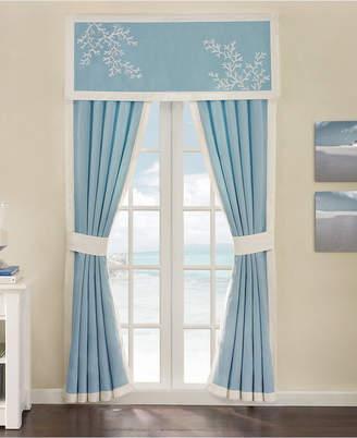 "Harbor House Coastline Cotton Jacquard 42"" x 84"" Rod-Pocket Window Panel Pair"
