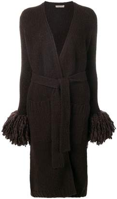Bottega Veneta long knitted cardi-coat