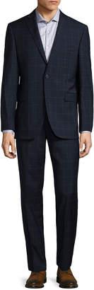 Saks Fifth Avenue Windowpane Notch Suit
