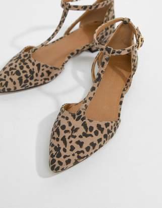 4848e9648ccc Asos Design DESIGN Limelight Pointed Ballet Flats in leopard print
