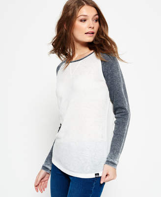 Superdry Contrast Waffle Baseball Top