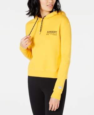 Superdry Cotton Cropped Logo Hoodie