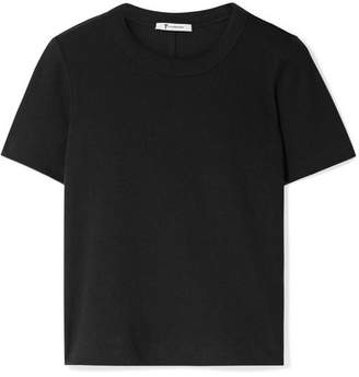 Alexander Wang Cropped Stretch Cotton-jersey T-shirt - Black
