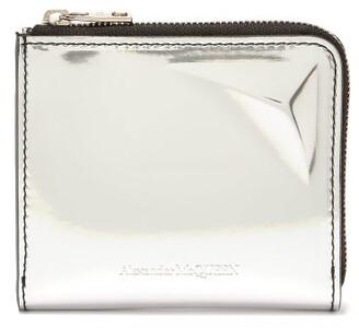 Alexander McQueen Zip Around Coin Wallet - Mens - Silver