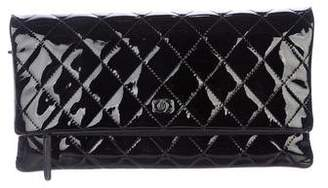 Chanel Patent Leather CC Beauty Clutch