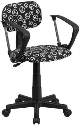 Flash Furniture Patterned Computer Chair with Arms