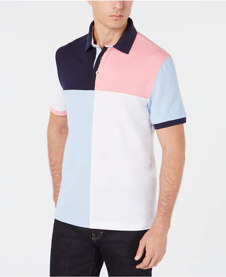 Club Room Men Regular-Fit Stretch Colorblocked Polo