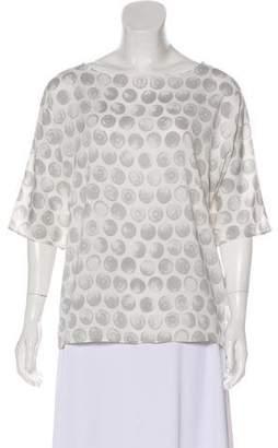 Fabiana Filippi Silk Printed Blouse