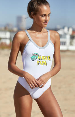 RVCA Real Talk One Piece Swimsuit