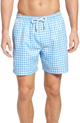 Men's Southern Tide Gingham Swim Trunks $79.50 thestylecure.com
