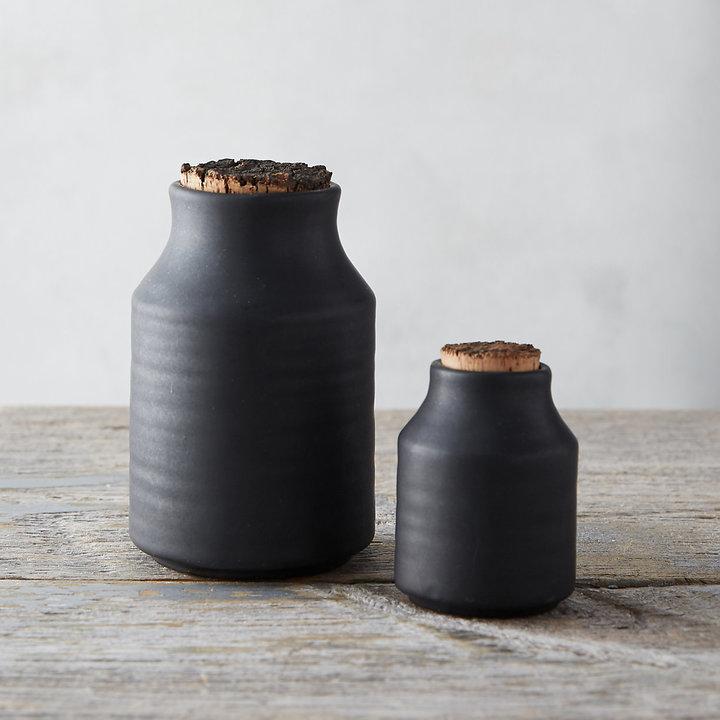 Ceramic Cork Top Storage Jar
