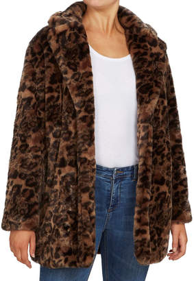 French Connection Faux Fur Animal Coat