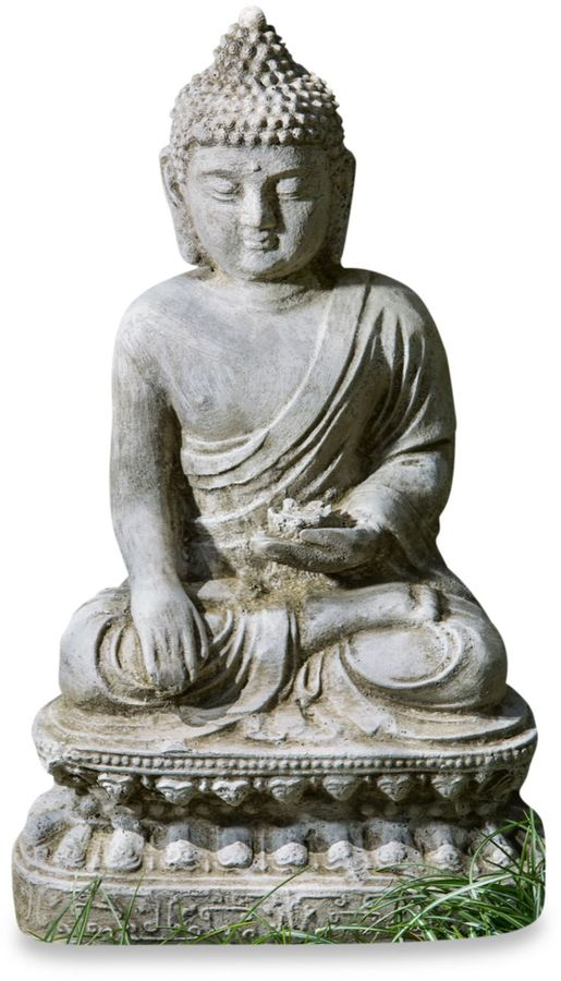 Bed Bath & Beyond Campania Seated Lotus Buddha Garden Statue