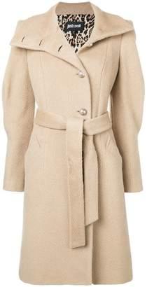 Just Cavalli belted midi coat