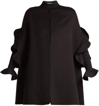 Valentino Ruffle-trimmed wool cape