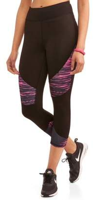 Active Women's High-Waisted Colorblock Performance capri Legging