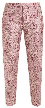 Giambattista Valli Floral Jacquard Trousers - Womens - Pink Multi