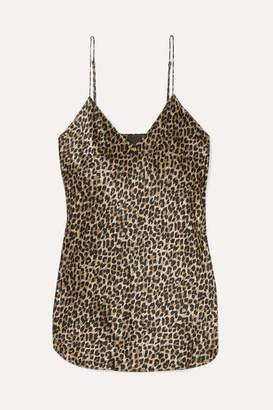 Nili Lotan Isabella Leopard-print Silk-satin Camisole - Leopard print