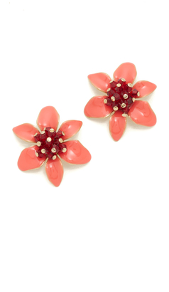 Kate Spade New York Lovely Lilies Statement Stud Earrings $78 thestylecure.com
