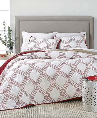 Martha Stewart Collection Closeout! Collection Gramercy Gate Reversible King Quilt, Created for Macy's