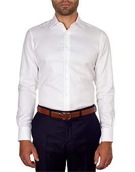 Hardy Amies Herringbone Slim Fit Shirt