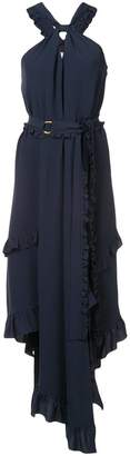 Derek Lam 10 Crosby Sleeveless Asymmetrical Halter Dress