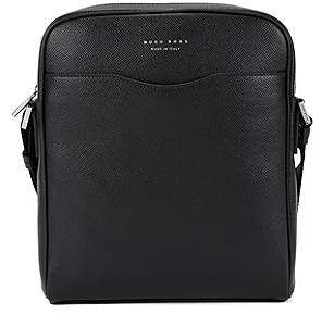 HUGO BOSS Signature Collection reporter bag in palmellato leather
