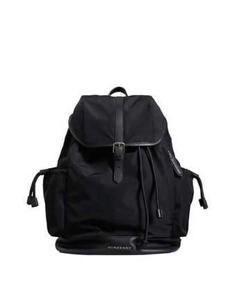 Burberry Watson Flap-Top Diaper Bag Backpack, Black