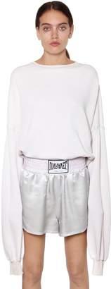 Unravel Open Back French Terry Sweatshirt