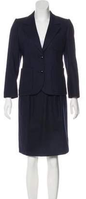 Saint Laurent Knee-Length Skirt Suit Set