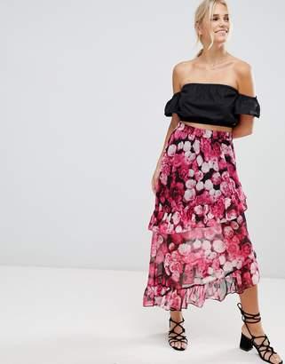NA-KD Asymmetric Flounce Skirt
