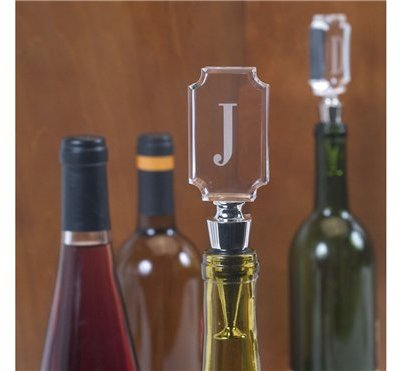 Etched Monogram Initial Bottle Topper - Letter J by Mud Pie