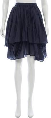 Hache Knee-Length Woven Skirt