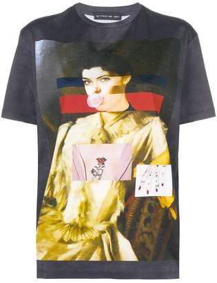 Etro portrait print T-shirt