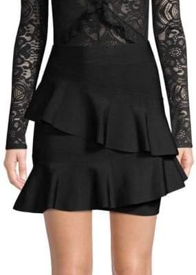 BCBGMAXAZRIA (ビーシービージーマックスアズリア) - BCBGMAXAZRIA Knit Ruffle Skirt