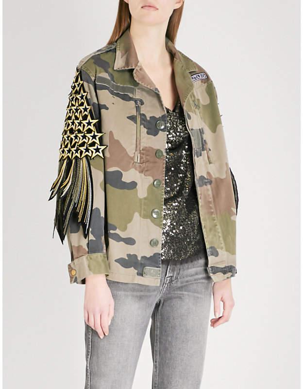 RAGYARD Star-appliqué cotton jacket