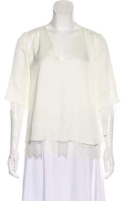 Hotel Particulier V-Neck Long Sleeve Blouse w/ Tags