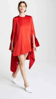 Monse Button Sleeve Flare Dress