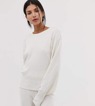 Asos DESIGN tall premium lounge knitted dropped sleeve sweat