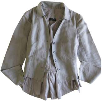 Ikks Grey Linen Jacket for Women