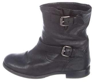Pedro Garcia Peep-Toe Suede Boots