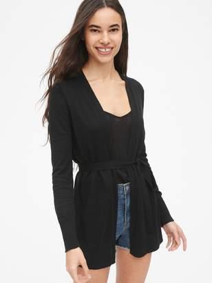 Gap Longline Cardigan Sweater in Linen-Blend