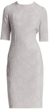 Teri Jon by Rickie Freeman Floral Jacquard Dress