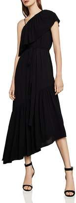 BCBGMAXAZRIA Conrad One-Shoulder Asymmetric Dress