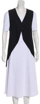 Ann Demeulemeester Virgin Wool Button-Up Vest