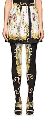 Versace Women's Graphic Pleated Silk Miniskirt